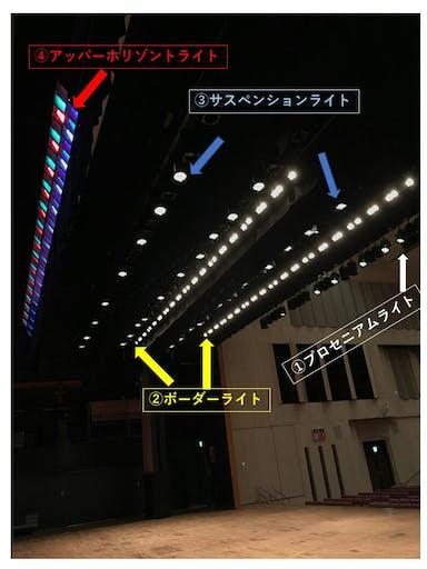 舞台上の照明設備